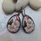 Red Vintage Sakura Teardrop Earrings