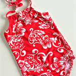 Sizes 5 to 10 Girls Hawaii Halter Neck Swimmers