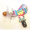 RAINBOW CHEVRON Dummy/Pacifier/Toy Clip