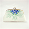 Double coin purse / Sea flower / two compartments purse/ sea blue/ christmas