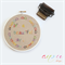 """Embroidery Hoop Wall """"It's a beautiful day"""" linen fabric 16 cm **MADE TO ORDER**"""