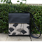 Mini Satchel - Ginkgo - Black and Greylead - Free Shipping