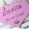 Shabby Heart Custom Name  Sign