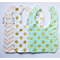 Sparkly Gold Set of 3 Bibs