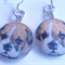 Boxer Pup earrings Free Postage