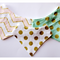 Set of 3 Sparkly Gold Bandana Bibs