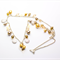 Gold, Champagne, Brown and Silver Chain Necklace with Matching Earrings