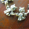 Cats, cute Australian pewter cat linked bracelet, Style 1