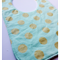 Sparkly Gold Dot on Mint Bib