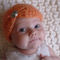 Newborn Vintage Beanie with Jewel / Peach /  Photography Prop /