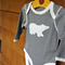 6-9 Months - FREE GIFT SERVICE! Polar Bear Navy Stripe Long Sleeve Baby Bodysuit