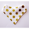 Sparkly Gold Dot on White Bandana Bib