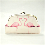 Double coin purse - Flamingos -