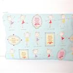 Medium Wet Bag / Nappy Wallet with Waterproof Lining - Ballerina Dancer (Blue)
