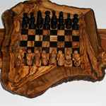 chess: natural olive wood chess board