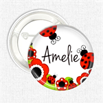 Name badges - Ladybug personalised badge