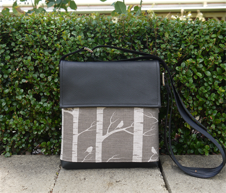 Mini Satchel - Birch Forrest - Greylead on Oatmeal - Free Shipping
