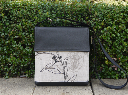Mini Satchel - Flowing Gum - Black and Greylead - Free Shipping