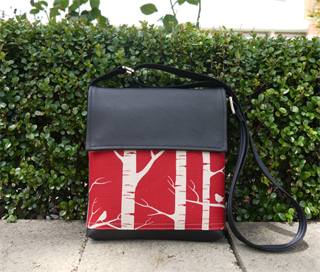 Mini Satchel - Birch Forrest - Deep Red - Free Shipping