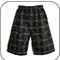 Black Skulls Boys Long Shorts