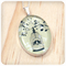 'Love Birds' Yellow Pendant Necklace - Sterling Silver and Resin