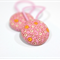 Hair ties - 'bubbles' // pink orange white with pink elastics // girl