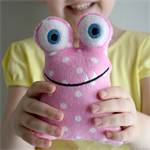 Rattle Monster Pink Polka Dots