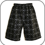 SIZE 4 Black Skulls Boys Long Shorts