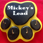 Ready To Hang Dog Lead or Key Holder - Large and Personalised