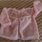 SIZE 0-6 months - Hand knitted baby cardigan/ jacket in pastel pink: OOAK,
