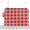 Red and Black Clementine Tile Medium Zippered Pouch