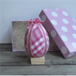 Easter Egg Pink Check with decorations