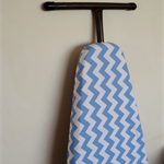 Ironing Board Cover - Pale Blue Chevron zig zag