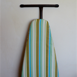 Ironing Board Cover - green blue and grey stripes