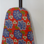 Ironing Board Cover - Vintage look Wedgewood blue and coral flowers