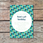 Geometric Honeycomb Boys Printable Custom Invitation