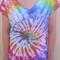ON SALE Rainbow Spiral Tie Dye T-Shirt - Size 12 Girls