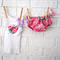 Perfect Pink Floral Baby bloomers & Singlet set - ruffle, girl, summer, tank