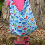 Whale print swim bag for kids