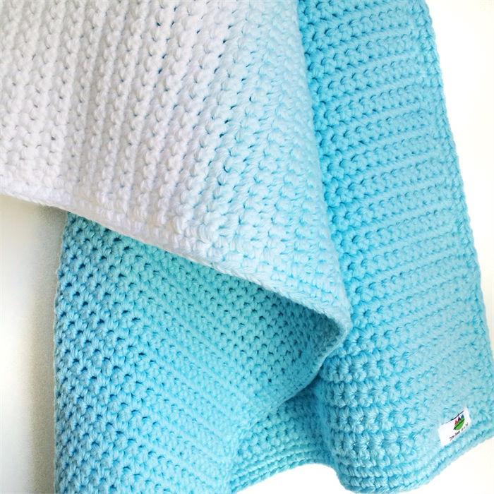 Ombre Crochet Cotton Baby Blanket - hand dyed - Bahama ...