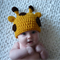 Baby Giraffe Hat / Beanie - Newborn to 3 Months / Photography Prop