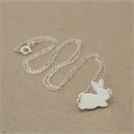 Easter Bunny Sterling Silver Necklace