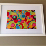 Vibrant Fabric Framed Wall Art. Carnival Colour