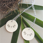 clay tags - mud pandas (set of 2)