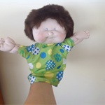 Hand puppet boy doll