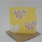 1 x Yellow Hearts Mini Gift Cards with Kraft envelopes