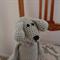 Dani Bear: Hand crocheted soft toy in camel by CuddleCorner: Washable
