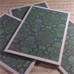 3 x Pretty Paper Cards - Green Doily Design - Blank Inside