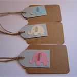 Birthday or Baby Shower Elephant Gift Tag - Set of 10