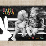 Printable Happy Easter Photo Card - Easter Bunny